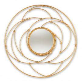 Gold Spiral Universes Wall Mirror