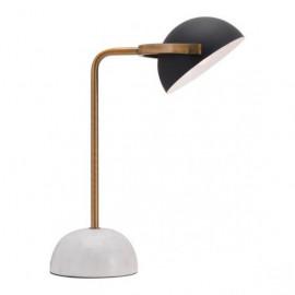 Black Steel Adjustable Shade Marble Base Table Lamp