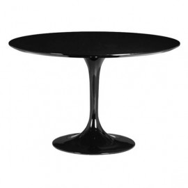 Black Glossy Tulip Table