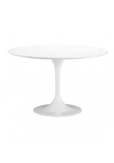 White Glossy Tulip Dining Table
