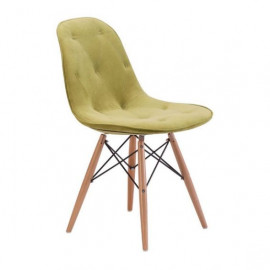 Green Velour Modern Dining Chair