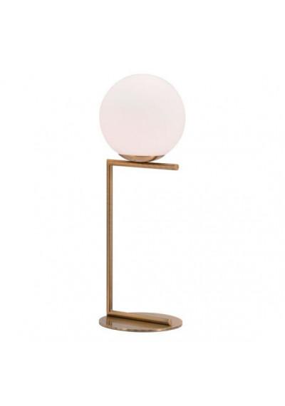 White Globe Modern Gold Base Table Lamp