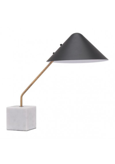 Black Cone Shade Mid Century Leaning Table Lamp