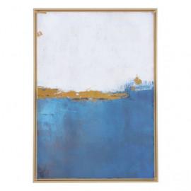 Blue Ocean & Sunshine Gold Framed Canvas Wall Art
