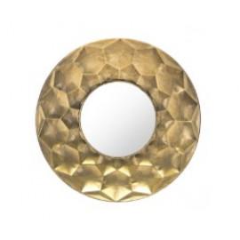Geometric Hexagon Design Gold Wall Mirror