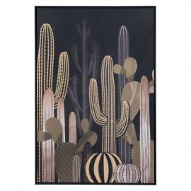 Midnight & Cactus Black Framed Canvas Wall Art