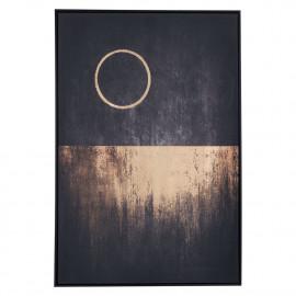 Midnight & A Full Moon Black Framed Abstract Canvas Wall Art