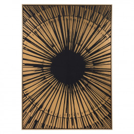 The Big Bang in Black & Gold Framed Canvas Wall Art