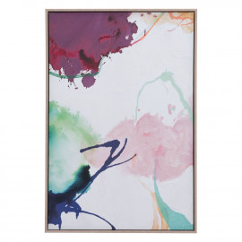 Abstract Garden with Lavender Modern Framed Canvas Wall Art